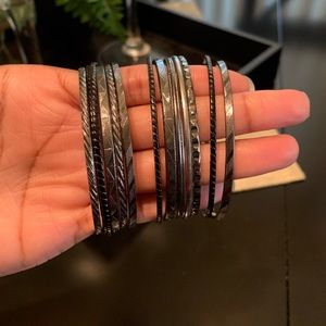 Jewelry - Silver and Black toned bracelets